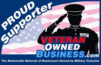 Proud Veteran Owned Business Supporter Badge