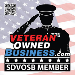 Square Service Disabled Veteran Owned Business Badge